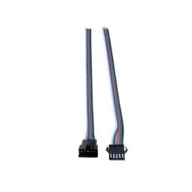 RGBW Steck-Verbinder 5-polig zum löten je 15cm Kabel