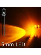 LED gelb 5mm wasserklar inkl. Widerstand hell 20° - 10er-Pack