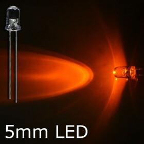 LED orange 5mm wasserklar inkl. Widerstand hell 20° - 10er-Pack