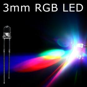LED RGB 3mm wasserklar inkl. Widerstand hell 20°
