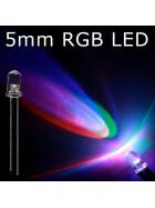 LED RGB 5mm wasserklar inkl. Widerstand hell 20°