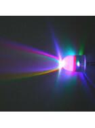 LED RGB 10mm wasserklar inkl. Widerstand hell 20° - 10er-Pack