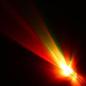 4Pin LED RGB 5mm ansteuerbar wasserklar hell 20° rot...