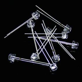 LED 5mm tageslichtweiß weitwinkel 120° inkl. Widerstand