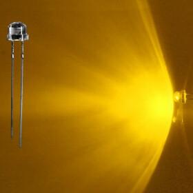 LED 5mm gelb weitwinkel 120° inkl. Widerstand - 10er-Pack