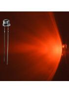 LED 5mm orange weitwinkel 120° inkl. Widerstand