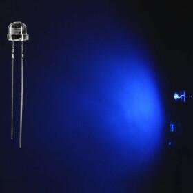 LED 5mm blau weitwinkel 120° inkl. Widerstand - 10er-Pack