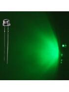 LED 5mm grün weitwinkel 120° inkl. Widerstand - 10er-Pack