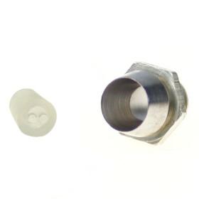 LED Halter für 3mm LEDs mit Schraubgewinde Metall verchromt