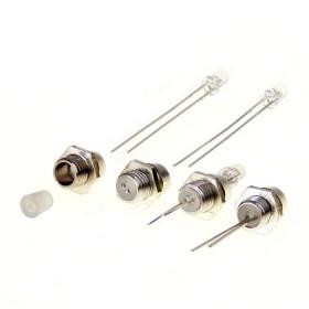 LED Halter für 3mm LEDs mit Schraubgewinde Metall...
