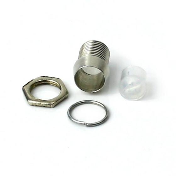 LED Halter für 5mm LEDs mit Schraubgewinde Metall verchromt