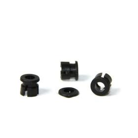 LED Halter schwarz plastik für 3mm LEDs