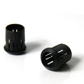 LED Halter schwarz plastik für 10mm LEDs