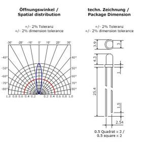 Blink-LED tageslichtweiß 3mm wasserklar inkl. Widerstand hell 20° - 10er-Pack