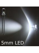 Blink-LED tageslichtweiß 5mm wasserklar inkl. Widerstand hell 20° - 10er-Pack