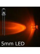 Blink-LED orange 5mm wasserklar inkl. Widerstand hell 20° - 10er-Pack