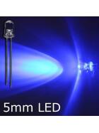 Blink-LED blau 5mm wasserklar inkl. Widerstand hell 20° - 10er-Pack