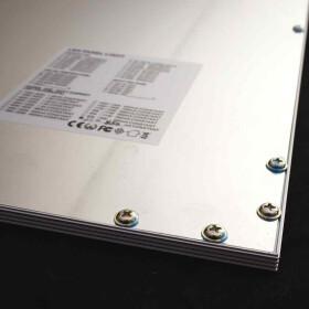 36W LED Panel 62cm neutralweiß Deckenpanel Rasterdecke Odenwalddecke silberner Rahmen
