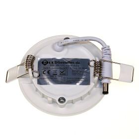 LED 3W Panel Spot Ultraslim weiß Ø 9cm rund 4000K neutralweiß Deckenlampe Lampe Einbaustrahler Leuchte Einbauleuchte