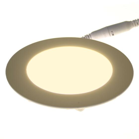 6W LED Spot Panel Ultraslim weiß Ø 12cm rund 3000K warmweiß Einbaustrahler Deckenlampe Lampe Einbauleuchte