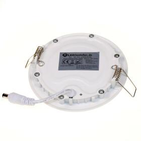 6W Spot Ultraslim LED Panel weiß Ø 12cm rund neutralweiß Einbaustrahler 4000K Einbauleuchte Deckenlampe Lampe