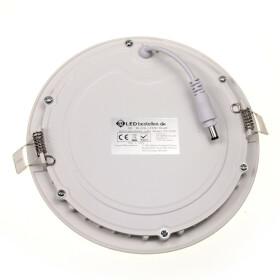 12W LED Spot Ultraslim Panel weiß rund Ø 17cm 3000K warmweiß Deckenlampe Einbaustrahler Lampe