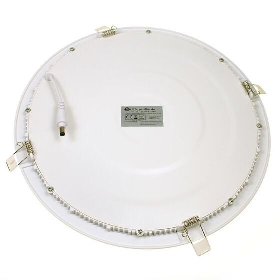 24W LED Ultraslim Panel weiß rund Ø 30cm 3000K warmweiß Deckenlampe Einbaustrahler Lampe