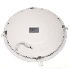 24W LED Ultraslim Panel weiß rund Ø 30cm 4000K neutralweiß Deckenlampe Einbaustrahler Lampe
