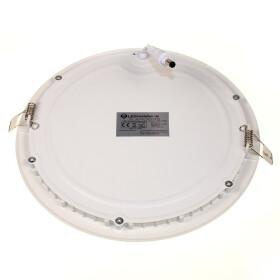 Ultraslim LED Panel 18W weiß rund Ø 22cm 3000K warmweiß Einbaustrahler Deckenlampe Lampe