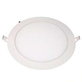 Ultraslim LED Panel 18W weiß Ø 22cm rund 4000K neutralweiß Einbaustrahler Deckenlampe Lampe