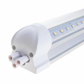 LED Lichtbandsystem T8-Stil steckbar, ultraleicht und schlank 60x3cm 3000K 18W 1800lm warmweiß zwei Boards