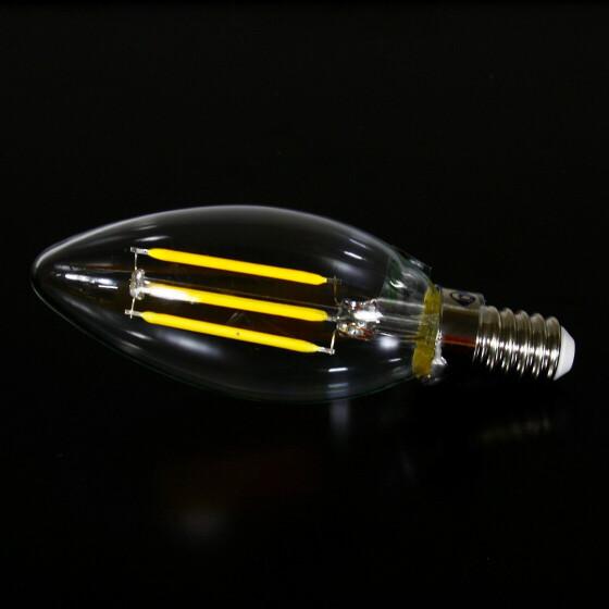 E14 4W LED Leuchtmittel Filament Lampe 3200K warmweiß Kerzenform wie 40W Retro Licht