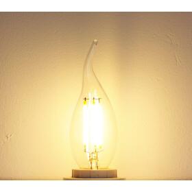 E14 LED Leuchtmittel Windstoß 4W Filament Lampe 3000K warmweiß wie 40W Retro Licht Vintage Kerze