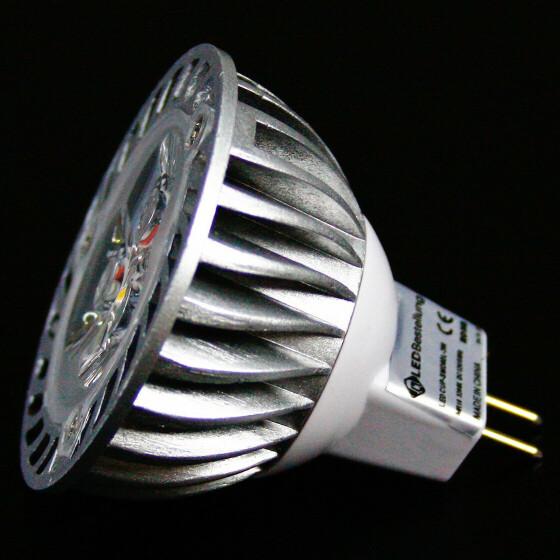 3W GU5.3 MR16 LED Lampe Spot mit 3 Power-LEDs wie 40W