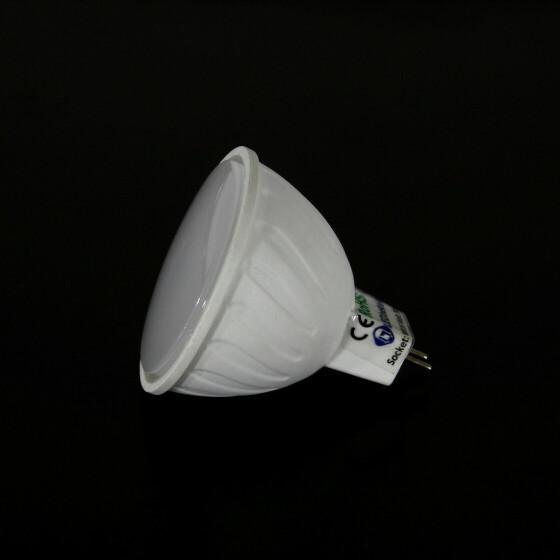 5W GU5.3 MR16 LED Leuchtmittel 3200K warmweiß Spot wie 40W Lampe milchig matt Fassung