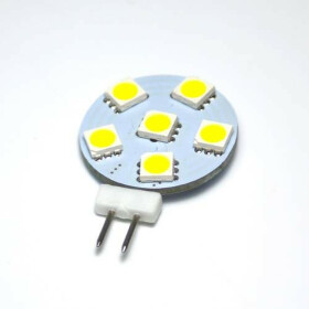 G4 LED Leuchtmittel 6 SMD 5050 4000K neutralweiß Stiftsockel 12V DC weiß flach Plättchen