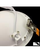 12W indirekter LED UFO dimmbar Deckenlampe, rund, weißer Einbaustrahler Ø 15cm 3200K warmweißes Licht, Lampe, Leuchte, Deckenleuchte, Einbauspot, Spot