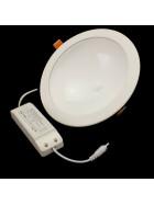 24W weiße runde LED UFO indirekte Deckenlampe, Einbaustrahler Ø 18cm 3200K warmweißes Licht, Lampe, Leuchte, Einbauspot, Spot
