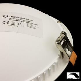 Dimmbare LED UFO indirekte Deckenlampe 24W weiß, rund Einbaustrahler Ø 18cm 3200K warmweißes Licht, Lampe, Leuchte