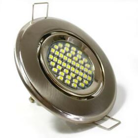LED Einbaurahmen schwenkbar rund Stahl gebürstet /...