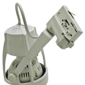 LED Strahler schwenkbar 35W weiß E27 warmweiß Stromschienenstrahler 3300K Euroschiene Leuchte Schienenstrahler