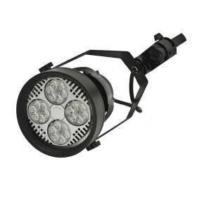 35W LED Schienenstrahler für Euroschiene schwarz Strahler schwenkbar E27 neutralweiß 4000K Stromschienenstrahler Leuchte