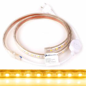 230V LED Streifen Warmweiß 2700K 5050 SMD 60/m IP44 dimmbar