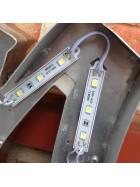 LED 3er Modul tageslichtweiß dimmbar SMD 5000K wasserdicht selbstklebend DC12V Werbung 20 Stk. in Reihe