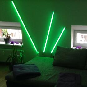 60cm LED RGB Aluminium Röhre mit 10 Tasten Fernbedienung ALU