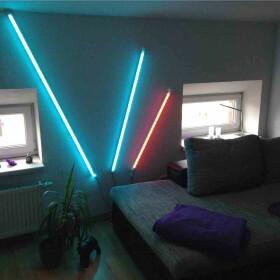 90cm LED RGB Aluminium Röhre mit 10 Tasten...