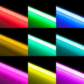 90cm LED RGB Aluminium Röhre mit 10 Tasten Fernbedienung ALU