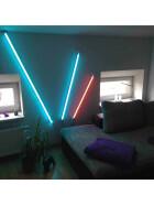 120cm LED RGB Aluminium Röhre mit 10 Tasten Fernbedienung ALU