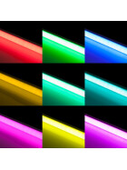 150cm LED RGB Aluminium Röhre mit 10 Tasten Fernbedienung ALU