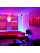 120cm LED UV Aluminium Röhre ALU Tube Schwarzlicht Partylicht Neonröhre ultraviolettes Licht Leuchtstofflampe Lampe Party Club